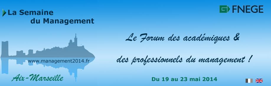 Bandeau Semaine du management FNEGE-AIM 2014