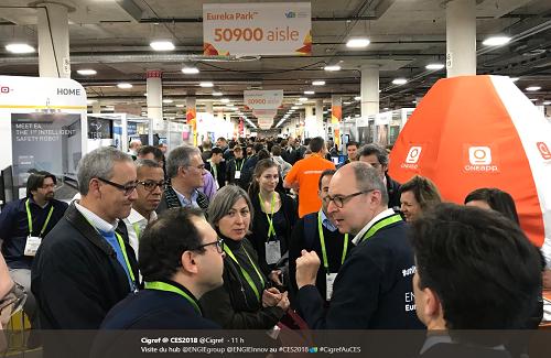 Viste de la délégation Cigref sur le stand Engie au CES 2018
