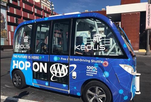Taxi Autonome Keolis CES 2018