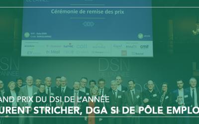 Le Grand Prix du DSI de l'année récompense Laurent Stricher, DGA SI de Pôle emploi