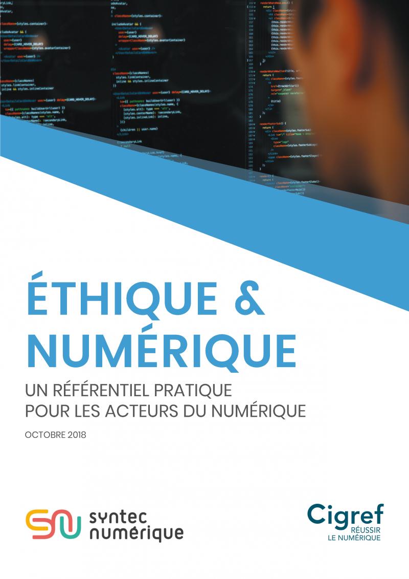 Publication Cigref : Ethique & Numérique