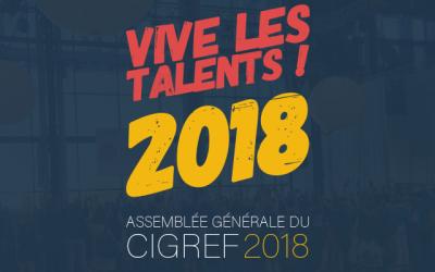Vive les talents ! 48ème Assemblée générale du Cigref, 16 octobre 2018