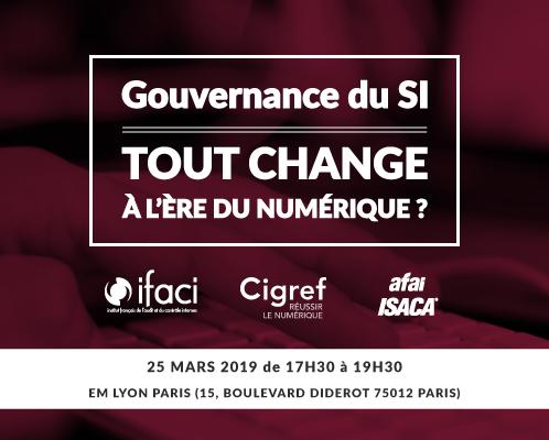 Colloque Gouvernance du SI : tout change à l'ère du numérique ?