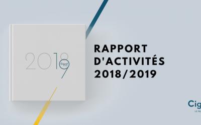 Le Cigref publie son rapport d'activités 2018 – 2019 à l'occasion de sa 49ème AG.