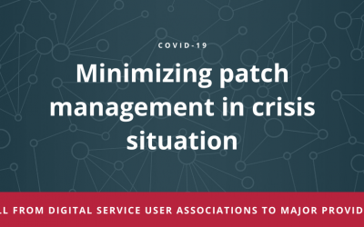 Minimizing patch management in crisis situation: call from digital service user associations to major providers